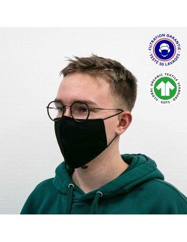 Masque ergonomique, 100% coton...