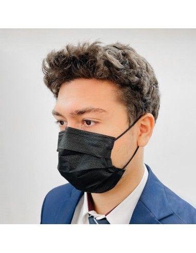 Masque NF EN14683 Type IIR médical Noir