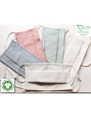 Masque textile lavable 100 % Coton...