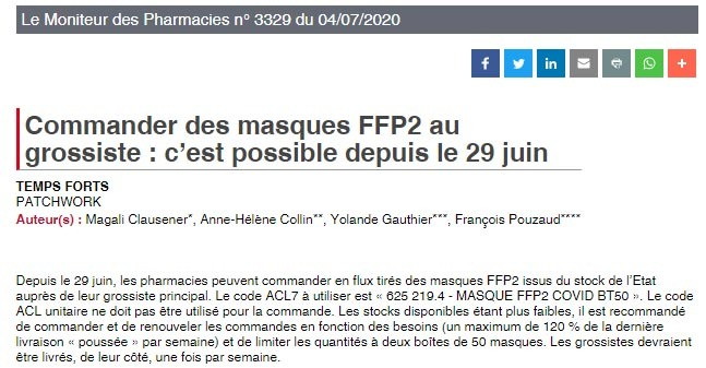 Grossiste masques FFP2